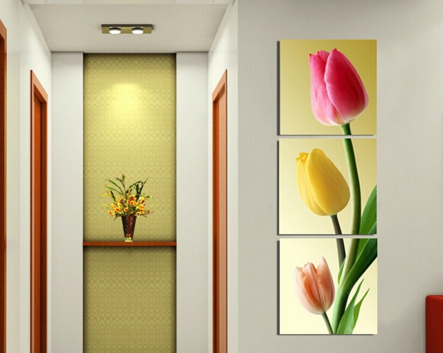 Framed Art Print Picture Wall Home Decorative Tulips Painting 3