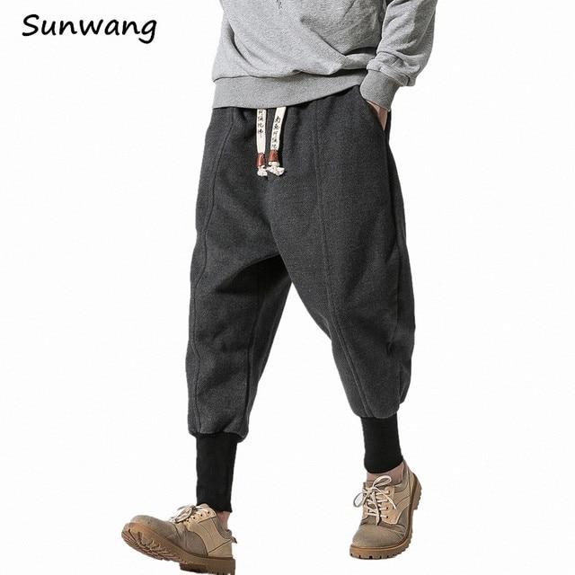 974134b0 Winter Thick Wool Men Casual Pants Japanese Fashion Loose Harem Pant Male  Warm Boot Mens Trousers Hip Pants Plus Velvet Size 5XL