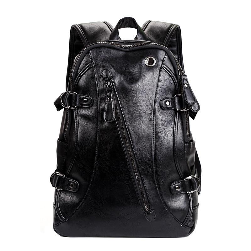 2017 New fashion Brand waterproof 15.6 inch laptop backpack men leather backpacks for teenager Men Casual Daypacks mochila male летние шины michelin 195 65 r16c 104 102r agilis