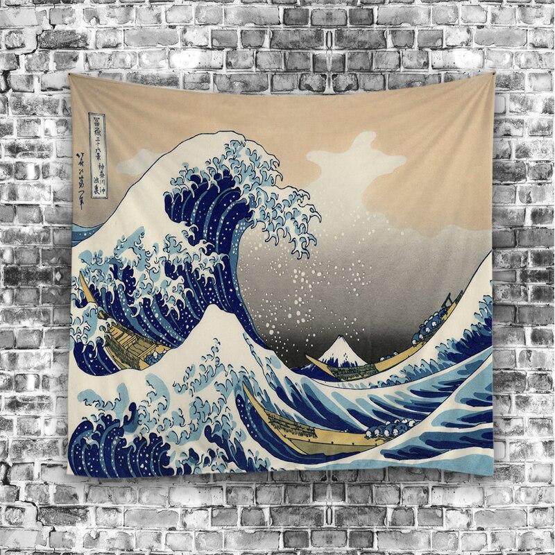Beddengoed Outlet Ocean Scenic Scenic Tapestry Gekleurde Gedrukte - Thuis textiel