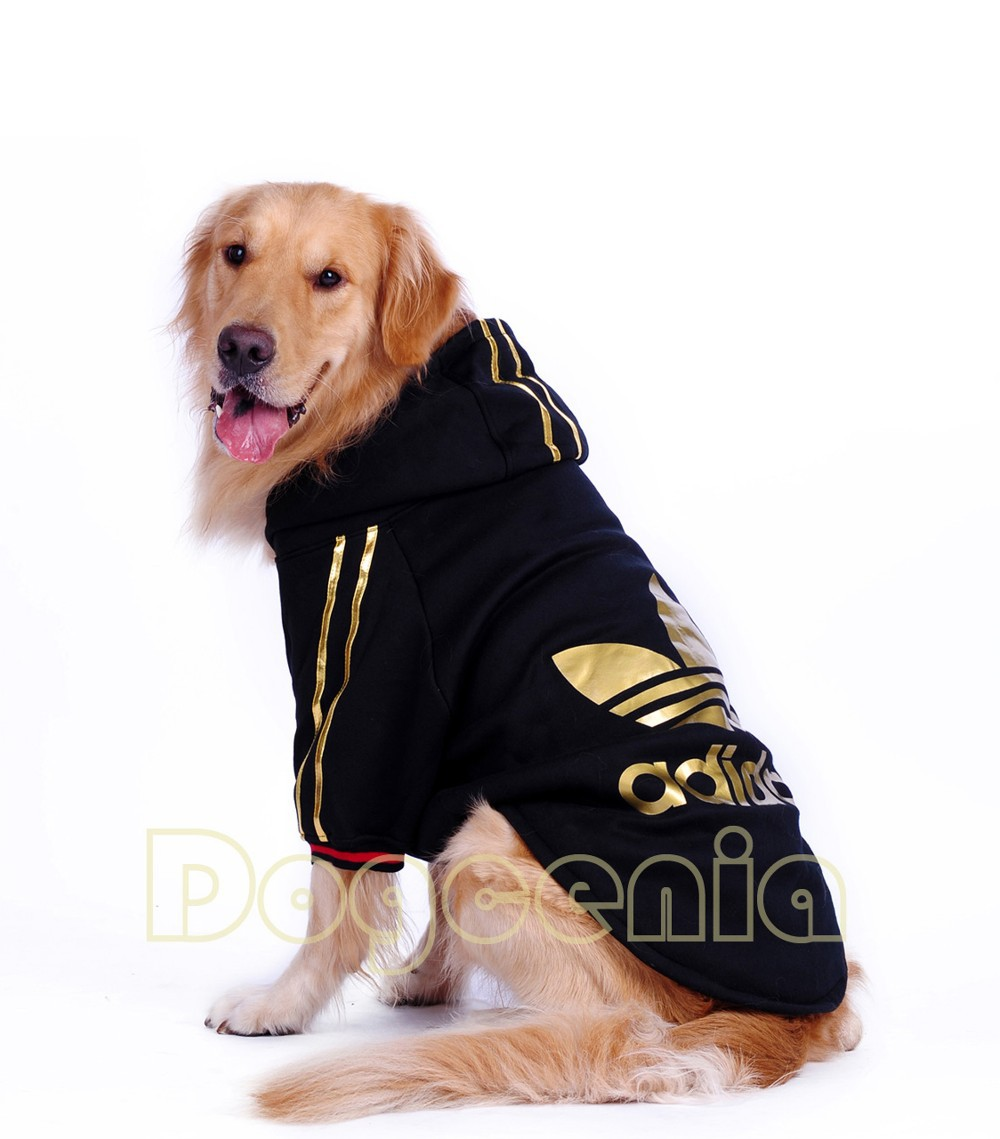 large dog clothes winter dog cotton coat pet hoodie coat dog
