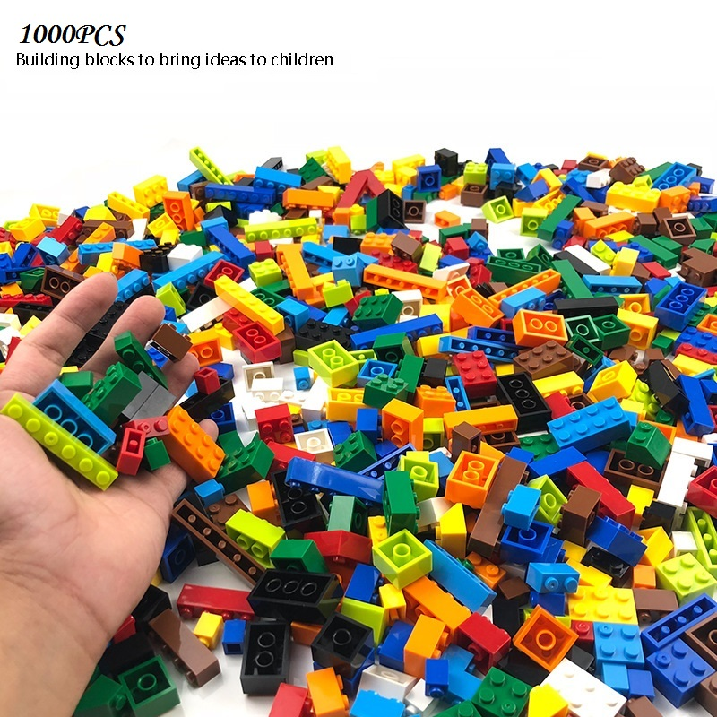 <font><b>1000</b></font> <font><b>PCS</b></font> Building Blocks Compatible All Brands Bricks DIY Creative Blocks Bulk Model Figure Educational Kids Children Toys Gifts image