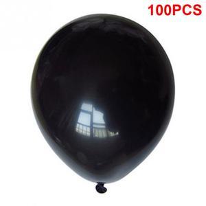 Image 2 - 100 Uds., negro, 1,5g, 10 pulgadas, grueso, perlado, brillo, fiesta de boda, cumpleaños, globos redondos