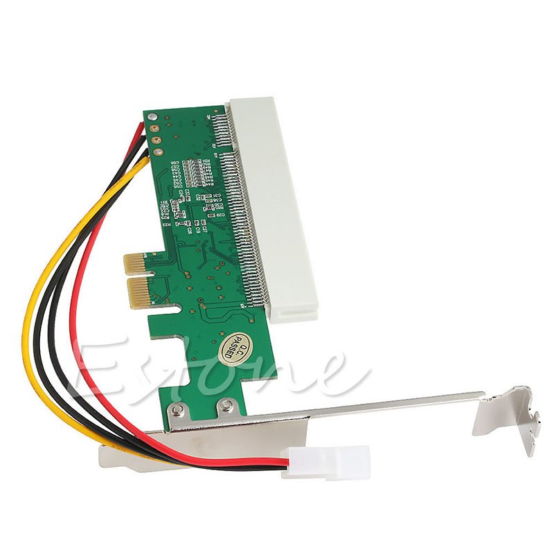 BGEKTOTH 4 Pin PCI-Express PCI-E To PCI Bus Riser Card Adapter Converter