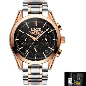 Image 3 - Watches Men LIGE Brand Full Steel Military Watches Mens Quartz Clock Men Business Watch Sport Waterproof WristWatch Man Relojes