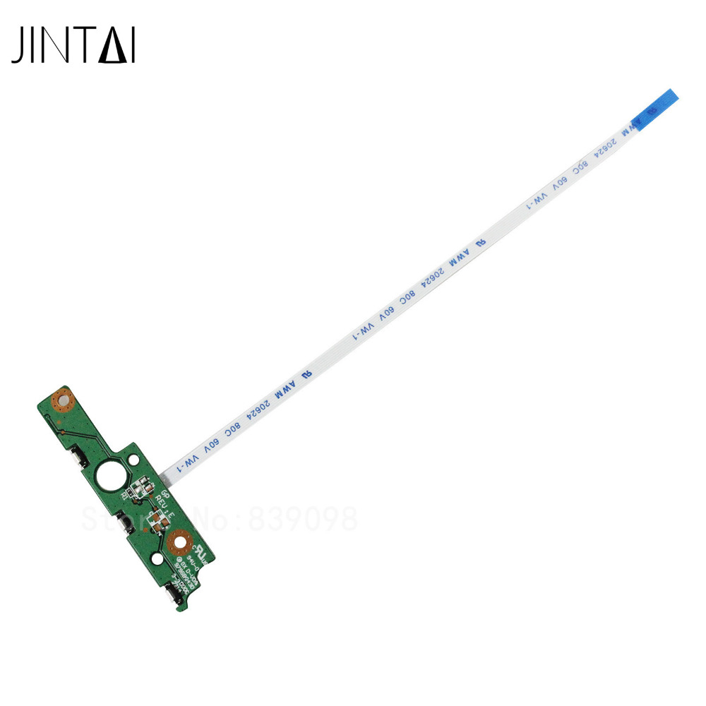 JINTAI Power Button switch ON-OFF Board W/ CABLE FOR Toshiba Satellite P55W-B5220 P55W-B5224 P55W-B5201SL P55W-B5220 3PBLSPB0000 5pcs lot high quality 2 pin snap in on off position snap boat button switch 12v 110v 250v t1405 p0 5