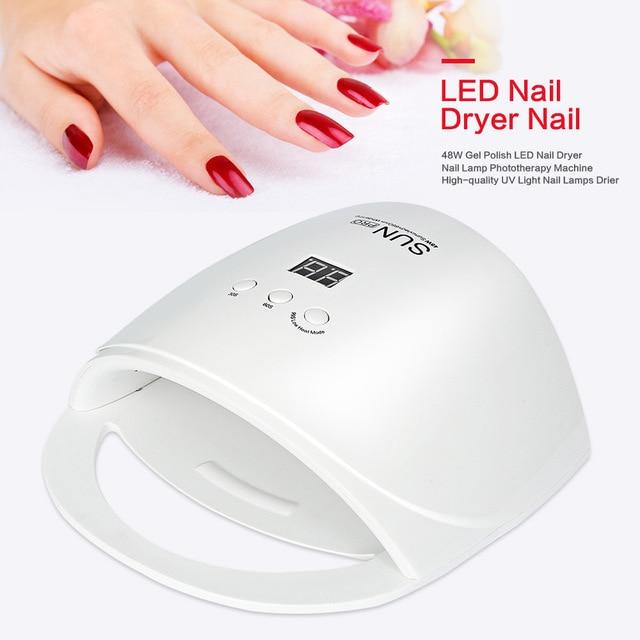 SUN Pro UV LED Lamp Nail Dryer 48W 23LEDs Gel Nail Polish Dryer LCD ...