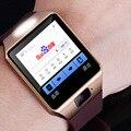 Dispositivos portátiles de xinjia smart watch apoyo inglés ruso sim tf tarjeta electrónica reloj de pulsera teléfono android smartwatch kt-14