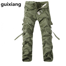 2017 spring Men's leisure development dishevelled jeans Men of high quality jeans pockets Leisure trousers males Cargo Pants 5 colors
