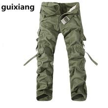 2017 spring Men's leisure fashion baggy jeans Men of high quality jeans pockets Leisure trousers men Cargo Pants 5 colors
