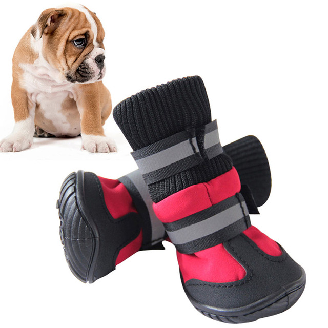Shoes For Dogs High Waist Cotton Waterproof Boots Non-slip Rubber Sole Dog  Shoes Five dbdd0056f