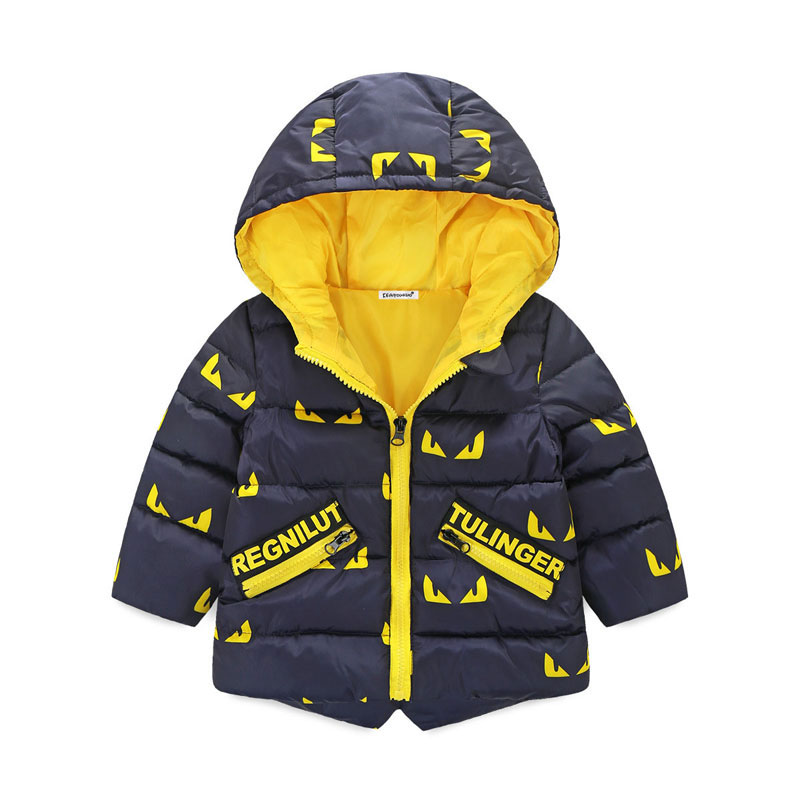 Outerwear Warm-Jackets Hooded Girl Baby-Boy Sports Kids Winter Children's New And 3-Colors