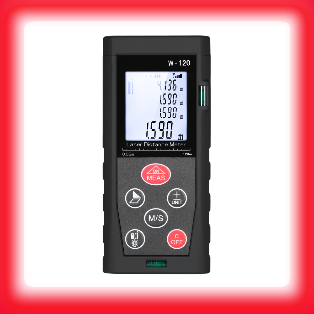 Handheld Digital Laser Distance Meter 80m to 150m LCD 2 Bubble Levels Range Finder Diastimeter Distance Area Volume Measurement джилет series pure