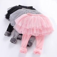 Леггинсы для маленьких девочек Обувь для девочек Брюки с юбкой-пачкой детские леггинсы для маленьких девочек юбка-штаны одноцветное Цвет д...
