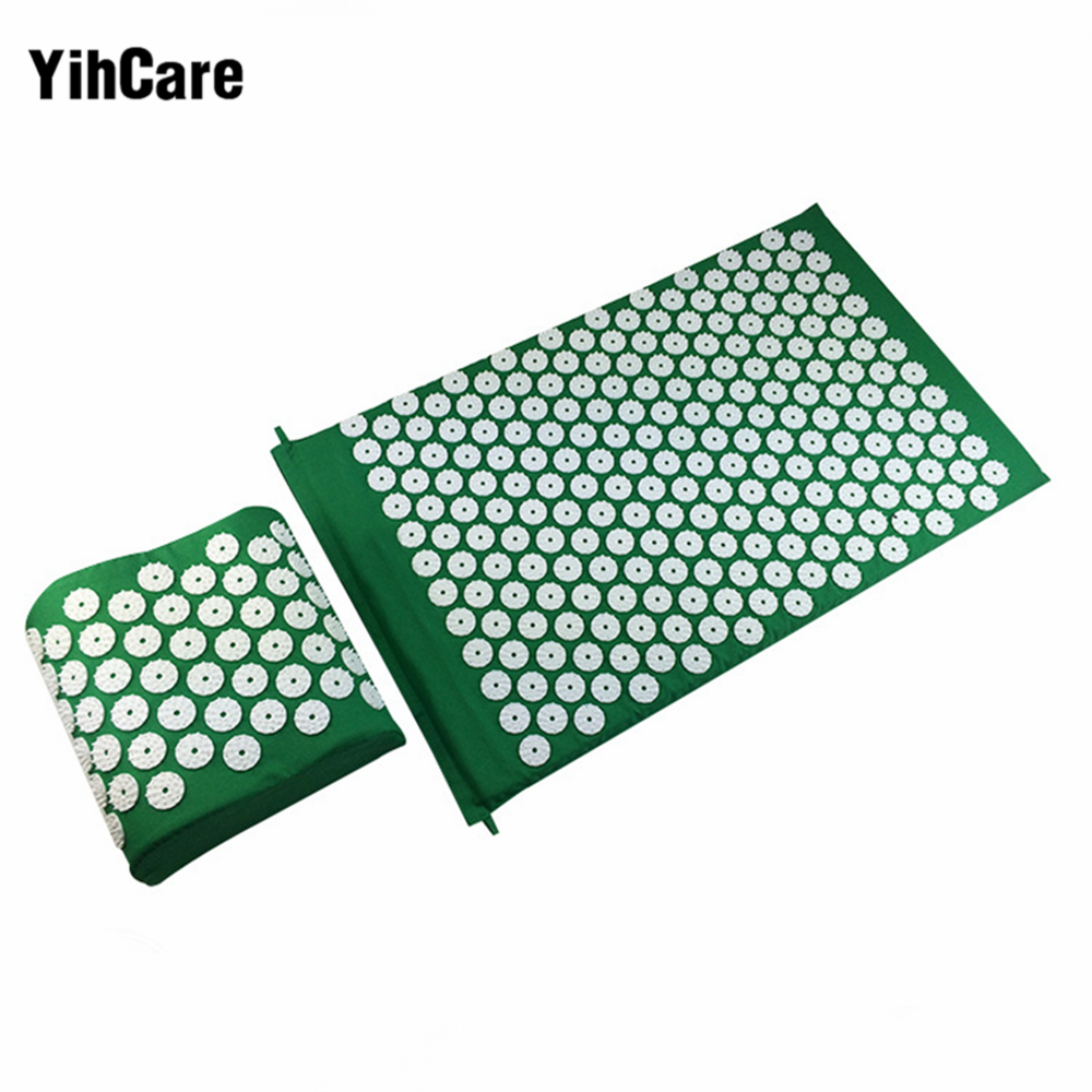 Yihcare 2pcs Body Massager Cushion Acupressure Mat Relieve