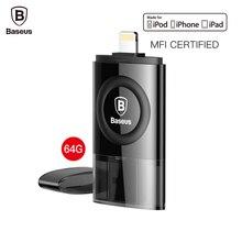 Baseus MFI 64 GB USB Flash Drive Pour iPhone 7 6 6 s Plus 5 5S se iPad Stylo Lecteur Pour La Foudre U Disque HD Mémoire Bâton OTG Pendrive