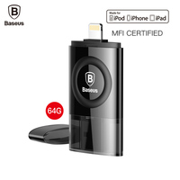 Baseus MFI 64GB USB Flash Drive For IPhone 7 6 6s Plus 5 5s Se IPad