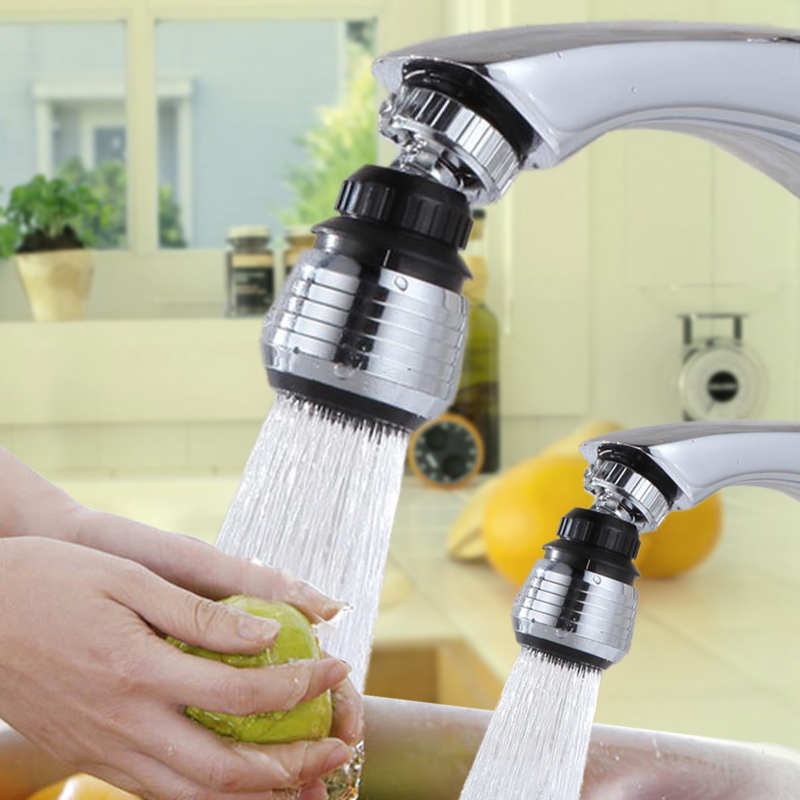 Practical 360 Degree Swivel Faucet Nozzle  Water Saving Taps Device Bathroom Kitchen Accessories