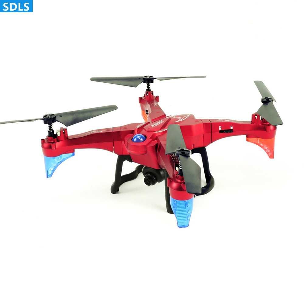 2.0MP WIFI FPV HD Máy Ảnh 2.4G 4CH Bay Không Người Lái Quadrocopters RC Máy Bay Trực Thăng Có Thể Tháo Rời Cánh Tay Thiết Lập Chiều Cao Giữ Một Chìa Khóa Trở Lại