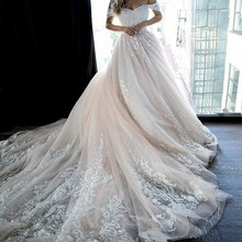 UMK Ball Gown Wedding Dress Cathedral Train Gowns