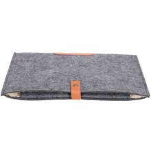 Felt Sleeve Laptop Case Cover Bag for Apple MacBook Air Pro 13″ Color:Gray Size:For Macbook 13″