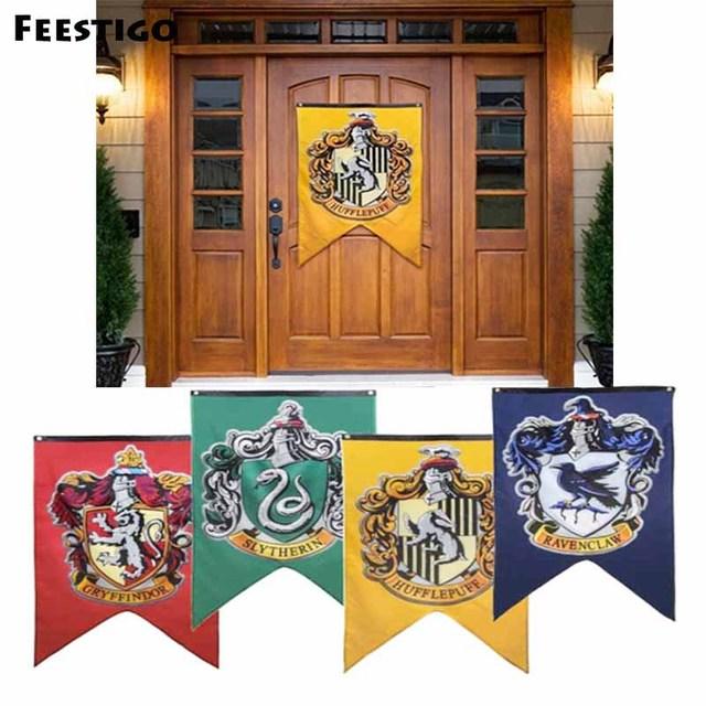 Feestigo 75*125cm Harry Potter Hollywood Party Supplies Flag Banner  Halloween Wall Banner House Home