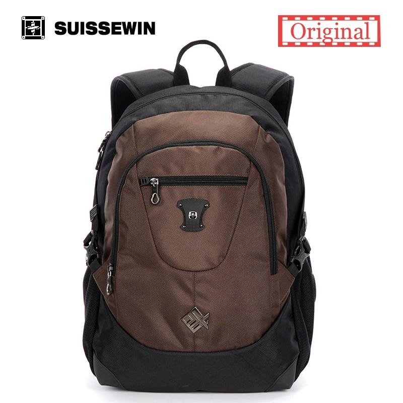 Suissewin swiss Fashion Brand male laptop Backpack Nylon School Backpack Bag Swiss Army Men Bagpack for Macbook Computer Mochila