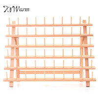 KiWarm Wood Tailor Thread Rack 60 Spool Sewing Embroidery Thread Organizer Storage Holder Sewing Accessories Tools