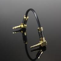 Neueste Marke FENGRU 15 CM 3,5mm Stecker auf 3,5mm Männlichen vergoldete geflochtene Stereo Audio Kabel Für kopfhörer Verstärker MP3