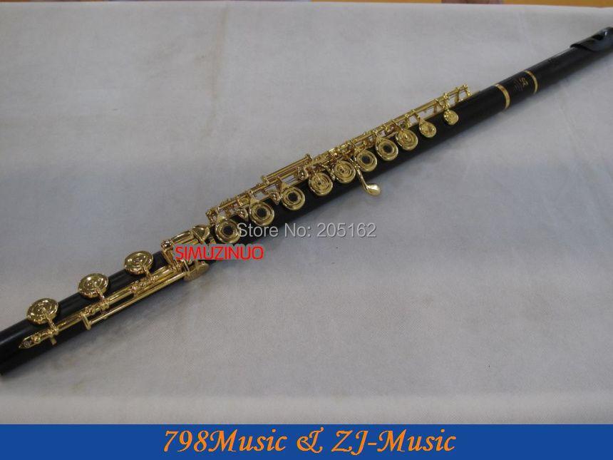 Ulduz çayı (SR) GDWFL-683-Ebony Wood Grenadilla Flute-B ayaq-Açıq - Musiqi alətləri - Fotoqrafiya 1