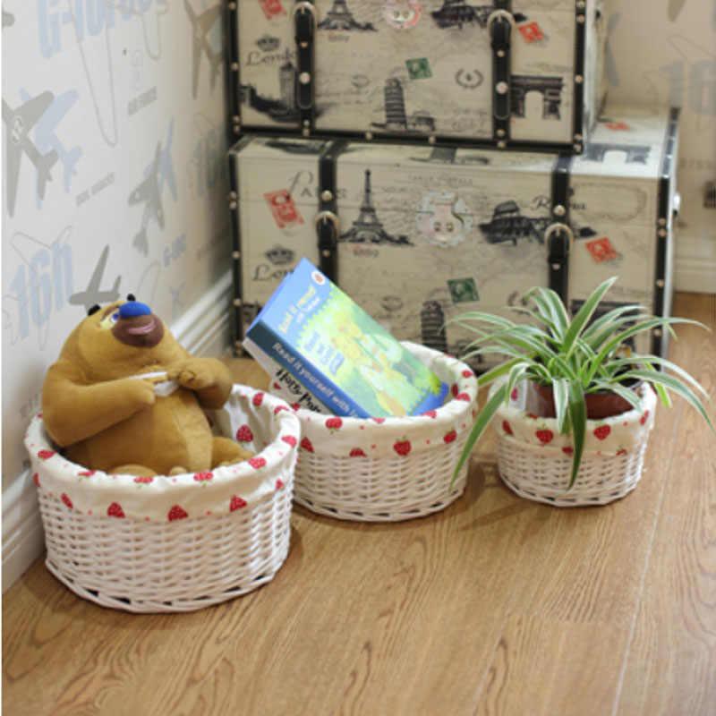 Маленький и средний и большой плетеный ящик для хранения корзин декоративные плетеные корзины из ротанга для подарков одежда закуски корзина для белья Органайзер
