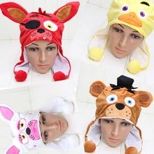 uk availability 39868 c0861 FNAF plush Hat cap Five Nights At Freddy s Plush toys Freddy Fazbear Foxy  Hat Winter Ear