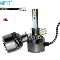 OkeyTech 2PCS Lot Best H1 LED Car Headlight Bulb 80W 9000LM White 6000K All In 1
