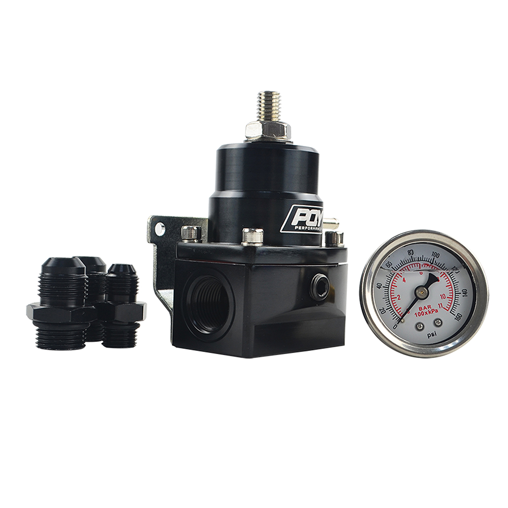 Image 5 - FREE SHIPPING   AN8 high EFI pressure fuel regulator w/ boost  8AN 8/8/6 PQY Fuel Pressure Regulator with gauge JR7855-in Oil Pressure Regulator from Automobiles & Motorcycles