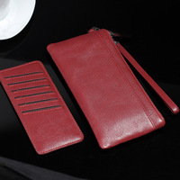 2in1 Wristband Zipper Genuine Leather Pouch Cover Case For Huawei Honor 6X 5X 4X 5C V9