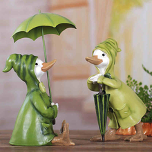 Cute Duck fairy garden miniatures Figurine Animal Resin  arts and crafts Bonsai tabletop Furnishing articles home decoration