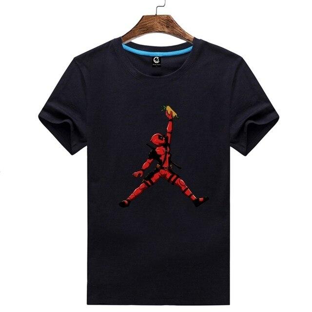 2d9d7a0c9fda Online Shop 2018 deadpool jordan Tee T-shirt Man casual short sleeve ...