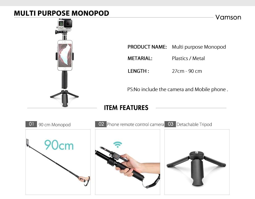 Vamson for Gopro Accessories set for go pro hero 7 6 5 4 kit mount for SJCAM for SJ4000 / for xiaomi for yi 4k for eken h9 VS84