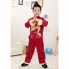 Long Sleeve Traditional Chinese Suit for Boys