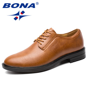 Image 2 - BONA New Arrival Classics Style Men Formal Shoes Microfiber Men Dress Shoes Lace Up Male Office Shoes Comfort Free Shipping