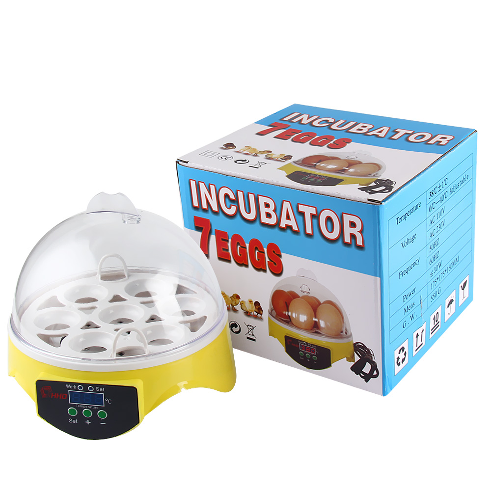 7PCS Eggs Automatic Poultry Mini Incubator Temperature Control Automatic Poultry Automatic Brooder Turning Incubator Chicken free ship to au new sale home automatic egg incubator 56 eggs chicken incubator brooder quail eggs incubators