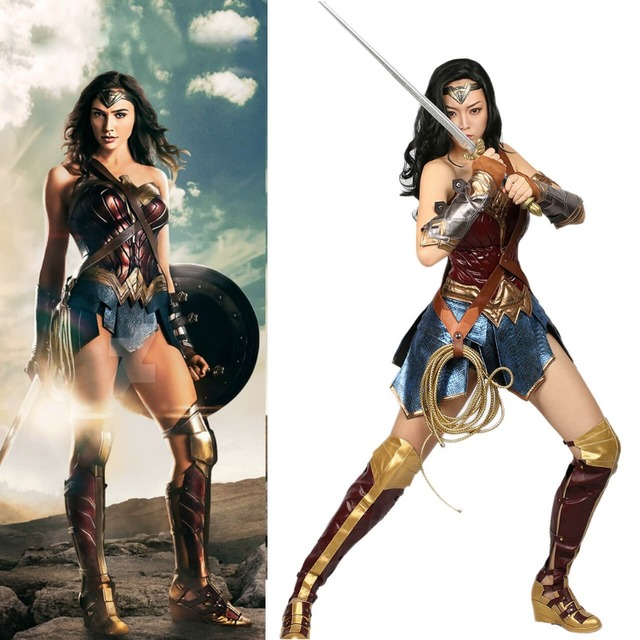 XCOSER Wonder Woman Costume DC Comic Superhero Cosplay Outfit Sull ...