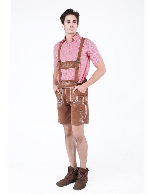 MOONIGHT 2 Pcs Hot German Beer Man Costumes Adult German Bavarian Oktoberfest Costume Men Halloween Cosplay Costumes 3
