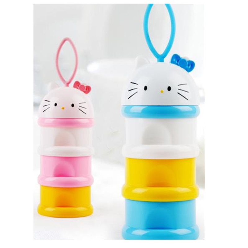 3 Layer Portable Container Infant Food Milk Feeding Powder Dispenser Bottle Baby Travel Storage Box Products A0046