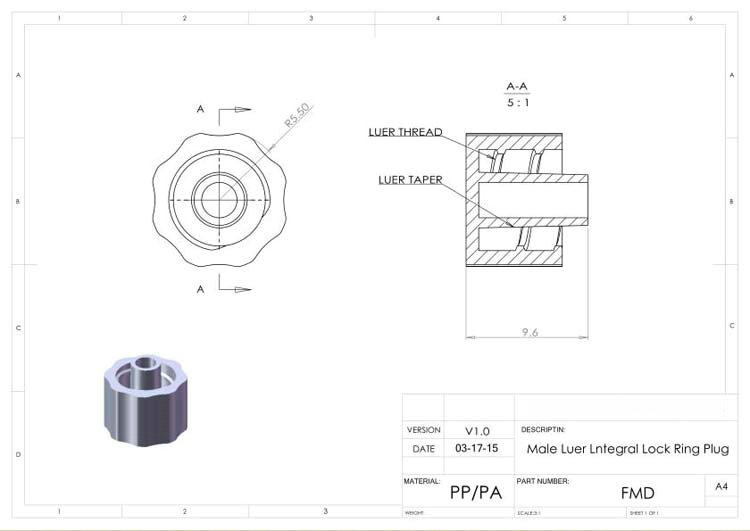 Sortimento luer lock connector (polyprop) luer lock