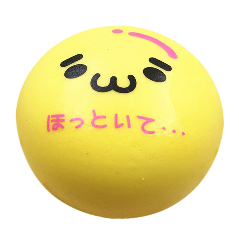 Hot Sale Squishy Squeeze Stress Reliever Soft Face Yellow Bun Scented Slow Rising Toys Gifts Toys Dropshipping Free Shipping M20