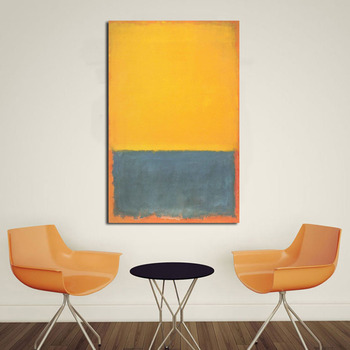 JQHYART Mark Rothko pintura al óleo de la vida real clásica lienzo imágenes modernas para arte sin marco
