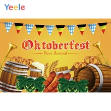 Yeele Oktoberfest Carnival Party Food Sausage Wheat Photography Backgrounds Customized Photographic Backdrops for Photo Studio