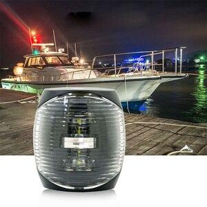 Image 2 - 12 v DC עמיד ימי סירת LED אור 2 w אדום ירוק לבן פלסטיק Navigator אור מנורה עמיד למים