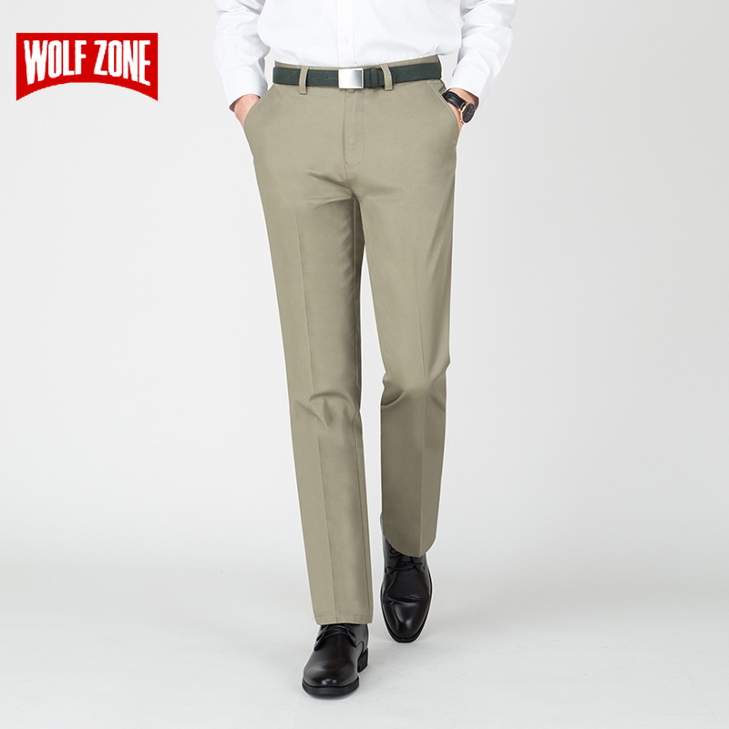 2019 New Spring Summer Men Pants Fashion Classic Business Casual Male Trousers Cotton Full Length Mens Clothing Big Size 30-38